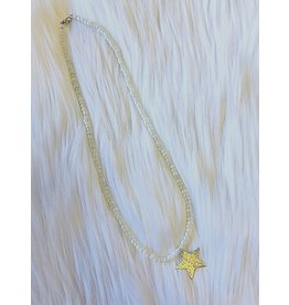 The Ritzy Gypsy MAKING MEMORIES Pearl Necklace with Star