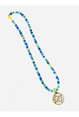 The Ritzy Gypsy DREAM ON Beaded Necklace with Charm