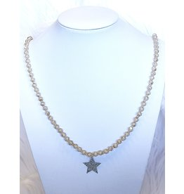 The Ritzy Gypsy CONFIDENT Beaded Necklace with Star Charm