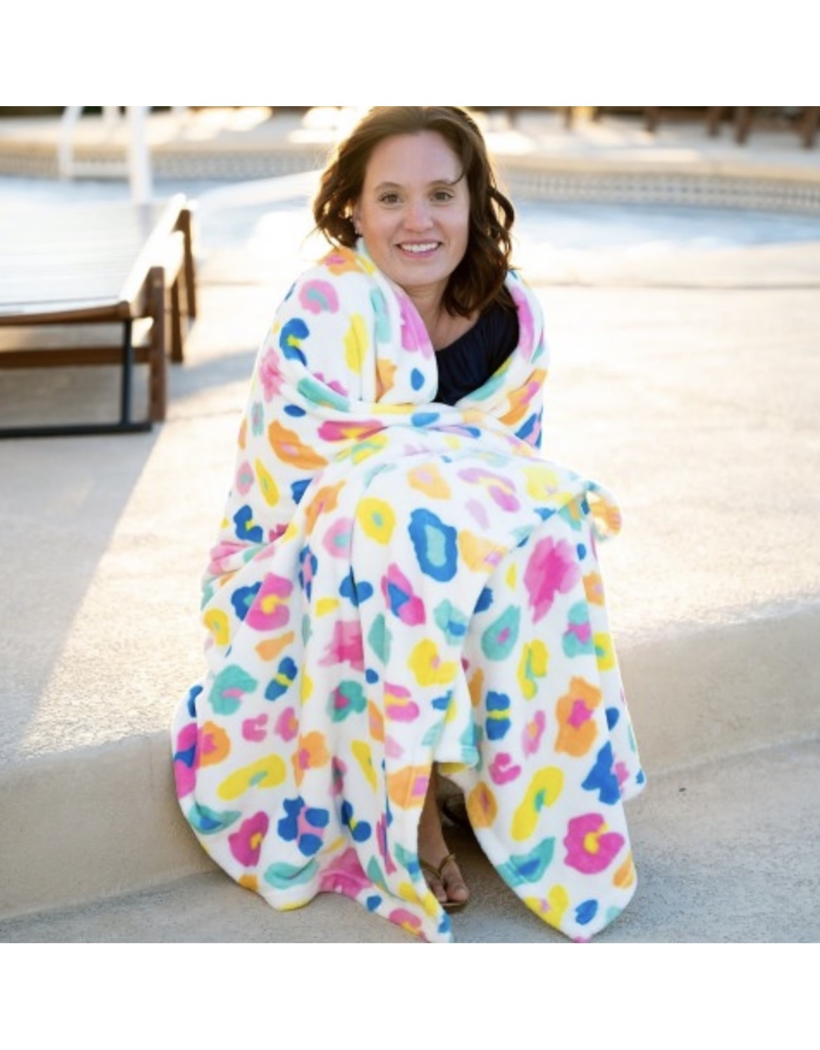 The Ritzy Gypsy FUN LEOPARD  Oversized Blanket