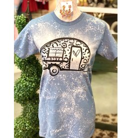 The Ritzy Gypsy LEOPARD CAMPER Bleached Tee