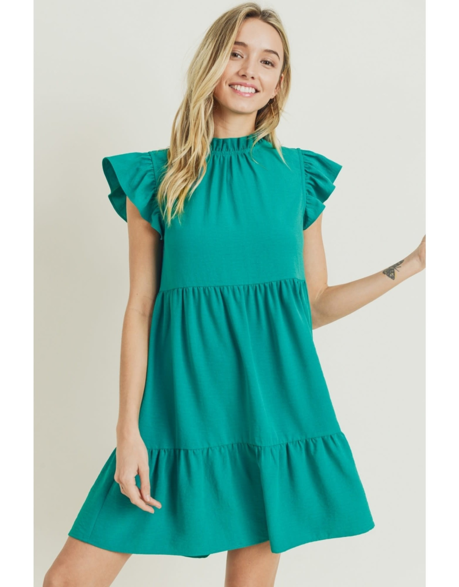 The Ritzy Gypsy JADE Ruffle Baby Doll Dress
