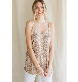 The Ritzy Gypsy TOFFEE Leopard Print V-Neck Tank Top