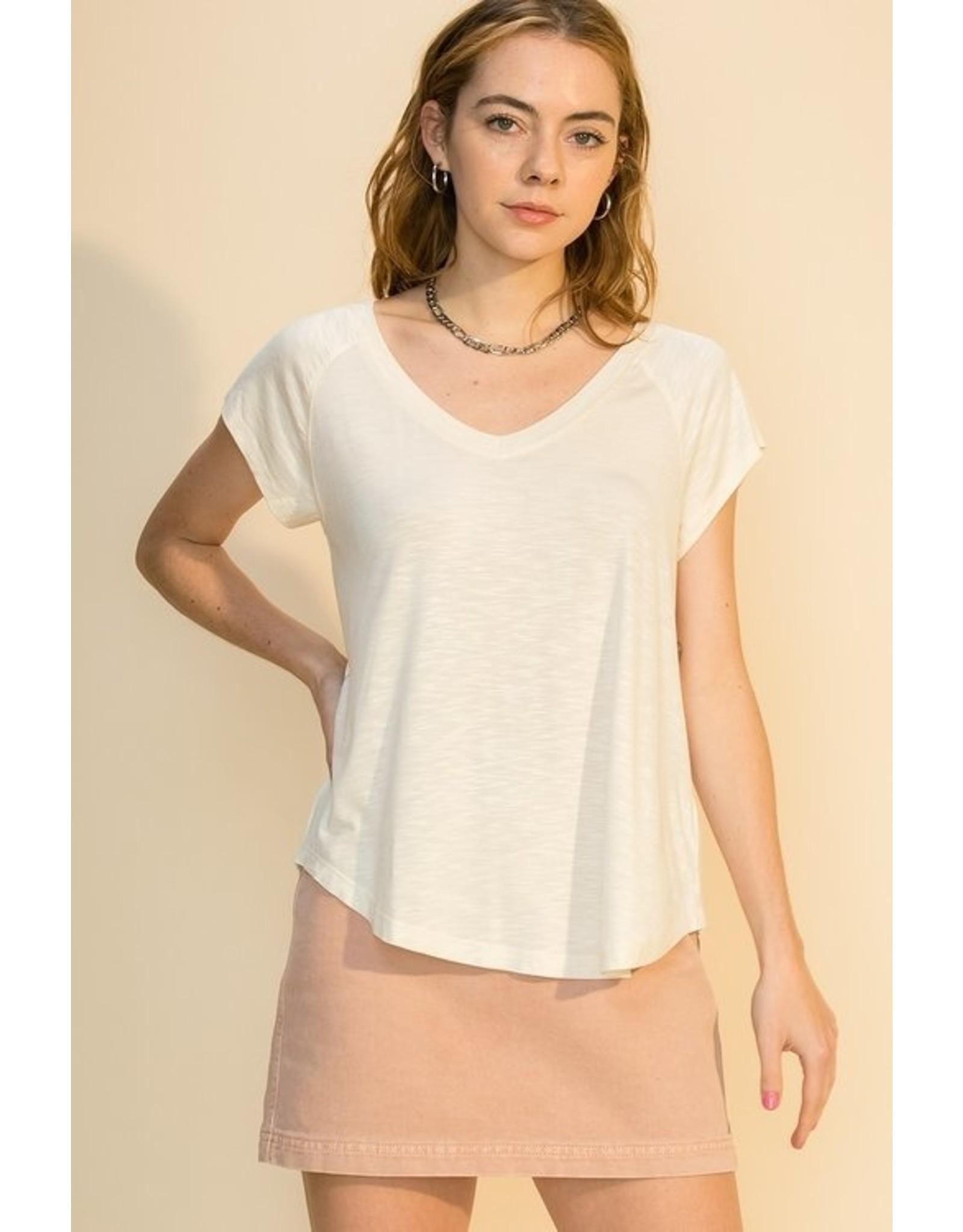 The Ritzy Gypsy BONNIE V-Neck Short Sleeve Top