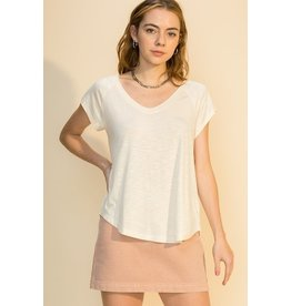 The Ritzy Gypsy BONNIE V-Neck Short Sleeve Top