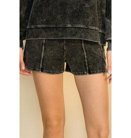 The Ritzy Gypsy MUSTANG Black Acid Wash Shorts
