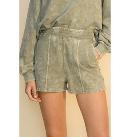 The Ritzy Gypsy SMOKEY BLUE Acid Wash Shorts