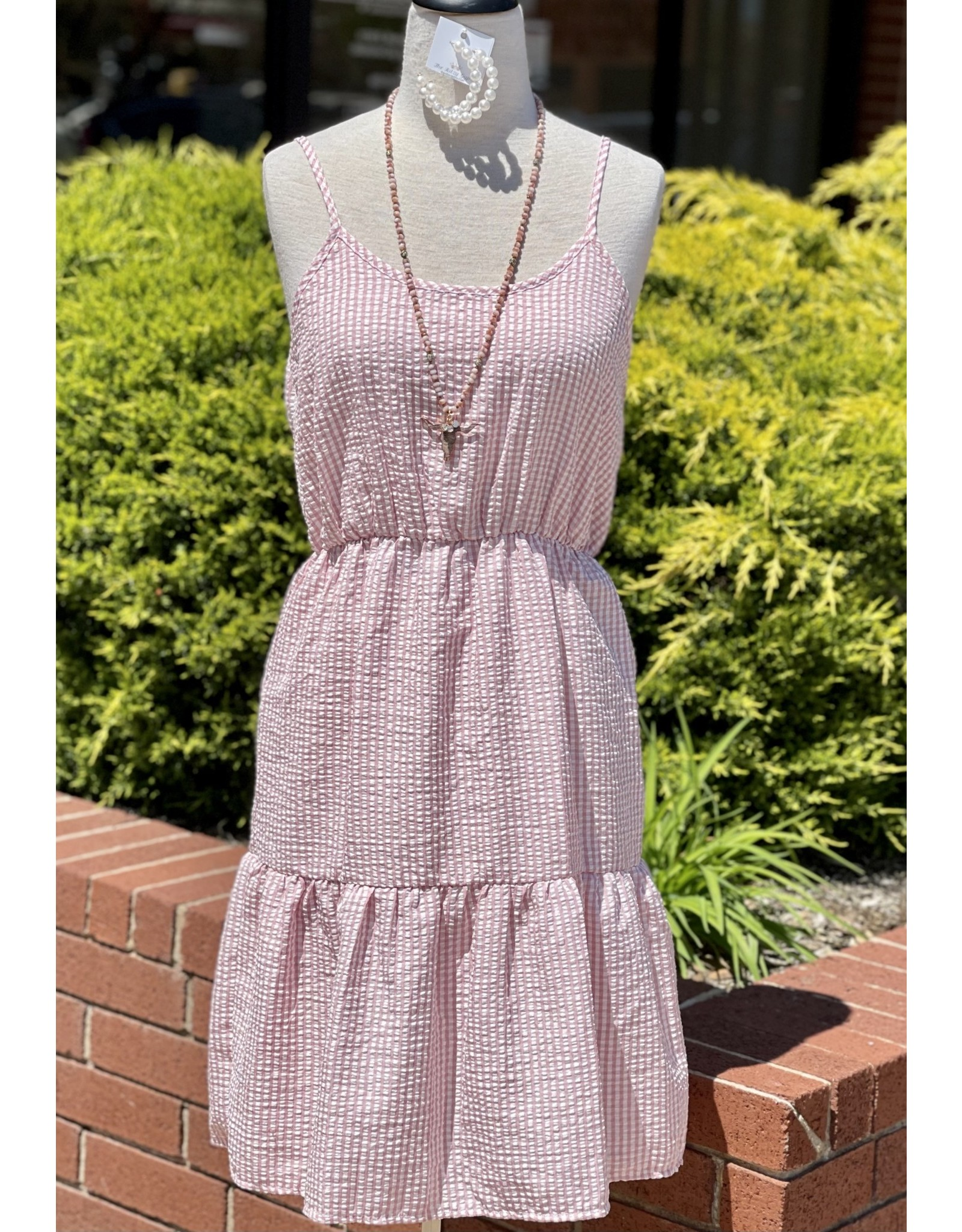 The Ritzy Gypsy CHARLIE Pink Plaid Tank Dress