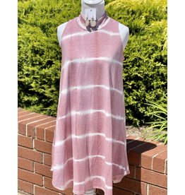 The Ritzy Gypsy MIA Mauve Tie Dye Dress