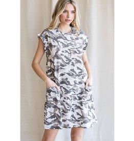 The Ritzy Gypsy CAROL Camo Tshirt Dress
