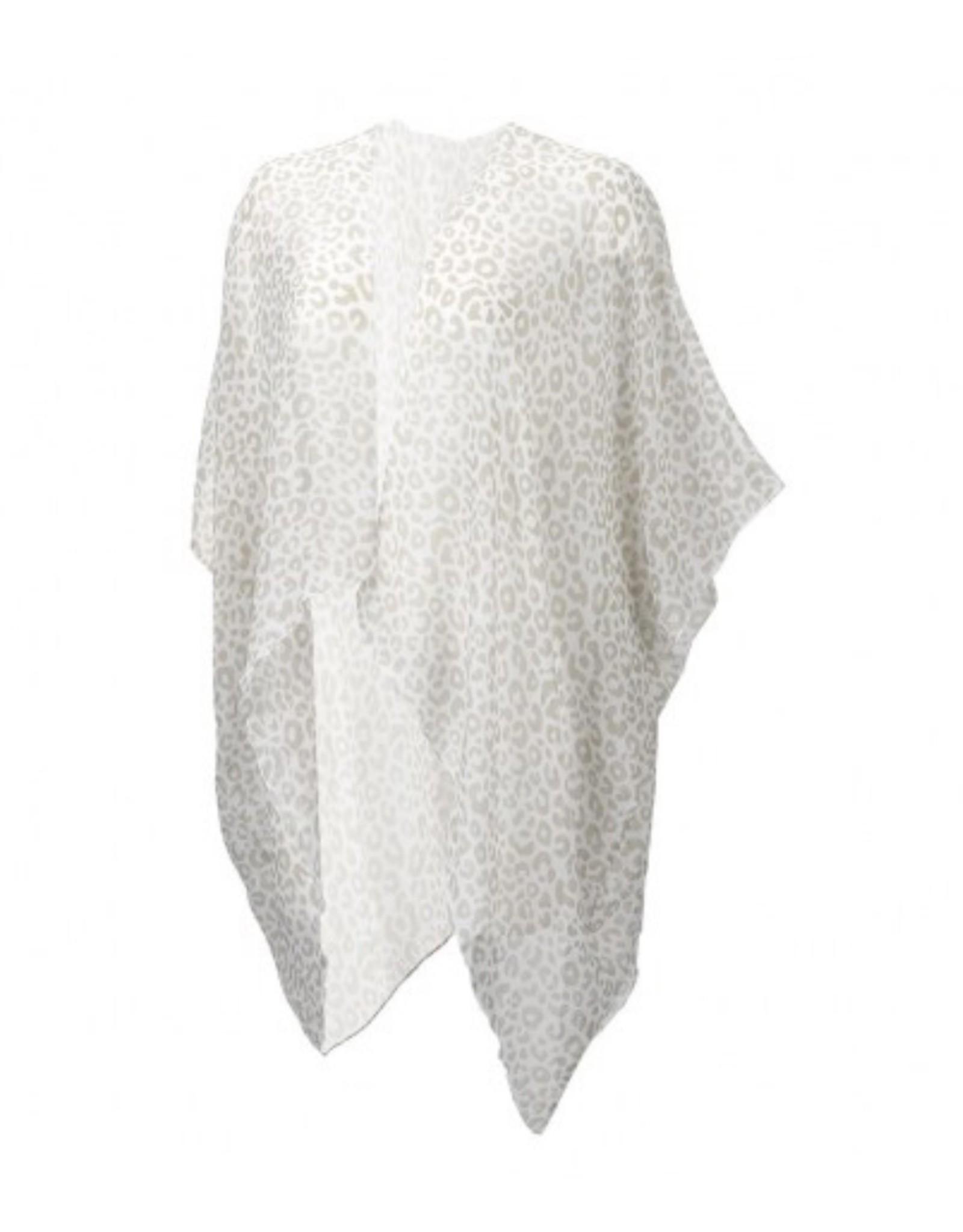 The Ritzy Gypsy EDEN Natural Leopard Kimono/Swim Cover (ONE SIZE)