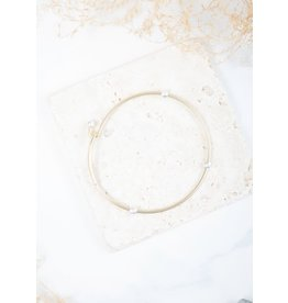 The Ritzy Gypsy Clasp Two-Tone Bangle, Gold