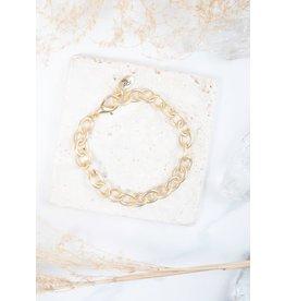 The Ritzy Gypsy Chain Bracelet, Matte Gold