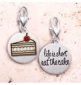 The Ritzy Gypsy EAT THE CAKE Medallion Charm