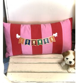The Ritzy Gypsy SUMMER RAINBOW Striped Pillow