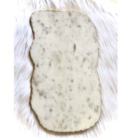 The Ritzy Gypsy STOIC White Marble Serving Board