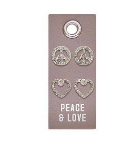 The Ritzy Gypsy PEACE & LOVE Stud Earring Set
