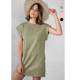 The Ritzy Gypsy FLARE T-Shirt Dress (Olive)
