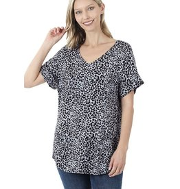 The Ritzy Gypsy SHINE BRIGHT Leopard V-Neck Top