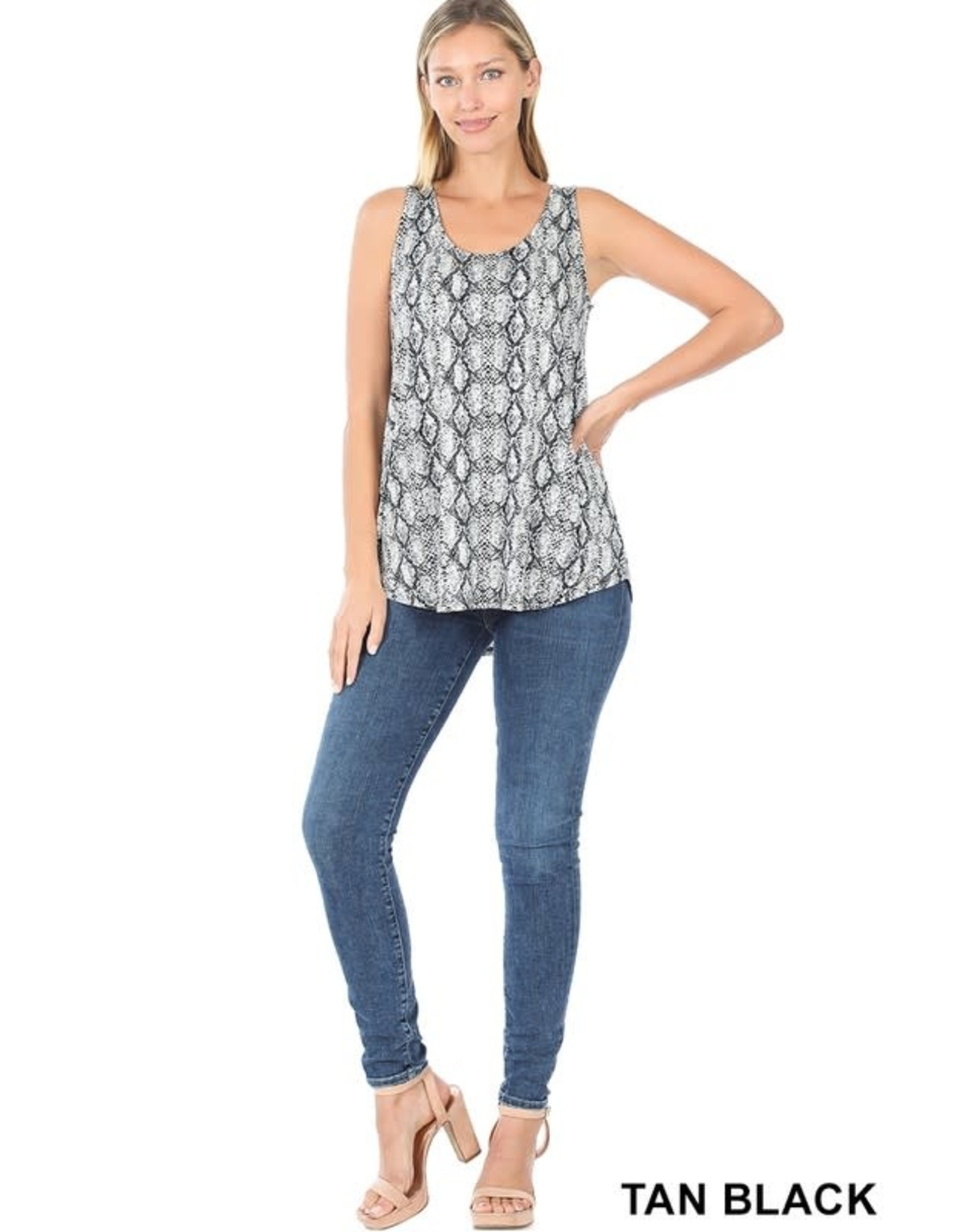 The Ritzy Gypsy ANDIE Snake Skin Sleeveless Top