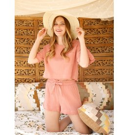 The Ritzy Gypsy BLUSHING FOR YOU Shorts Set
