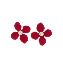 The Ritzy Gypsy DAISY MAE Flower Stud Earring (Red)