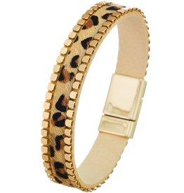 The Ritzy Gypsy ABBY Leopard Magnetic Bracelet
