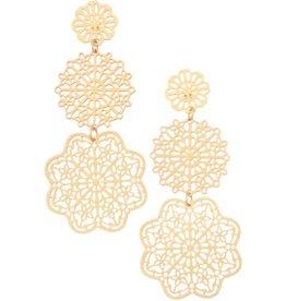 The Ritzy Gypsy MAVEN Filigree Earring (Gold)