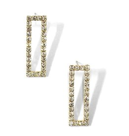 The Ritzy Gypsy ARWIN Rectangle Pave Earring