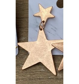 The Ritzy Gypsy OH MY STARS Double Star Earring (Rose Gold)