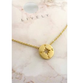 The Ritzy Gypsy FOLLOW ME Gold Charm Necklace