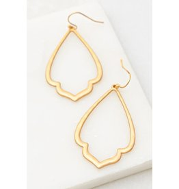 The Ritzy Gypsy LIVY GRACE Hammered Earring (Gold)