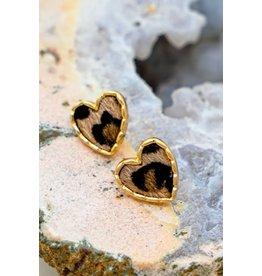 The Ritzy Gypsy JAYDEN Leopard Print Heart Earring
