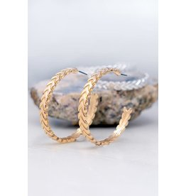 The Ritzy Gypsy WISHFUL Hoop  Earring (Gold)