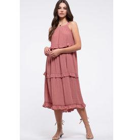 Blu Pepper PAISLEY Pink Ruffle Dress
