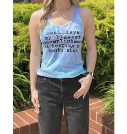 The Ritzy Gypsy BIGGEST ACCOMPLISHMENT Graphic Tank Top