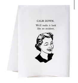 Southern Sisters Home CALM DOWN Towel