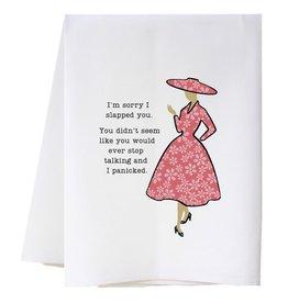 Southern Sisters Home SORRY I SLAPPED YOU Flour Sack Towel
