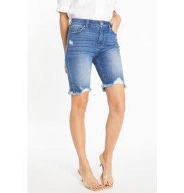 The Ritzy Gypsy SKYLER Super High Rise Destressed Bermuda Jean Shorts