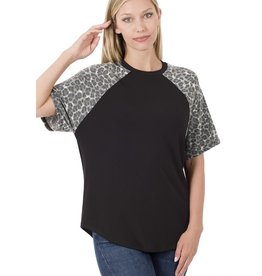 The Ritzy Gypsy BRYNLEE Black And Leopard Top
