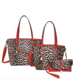 The Ritzy Gypsy GRACIE Leopard Handbags (red)