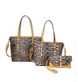 The Ritzy Gypsy GRACIE Leopard Handbags (mustard)