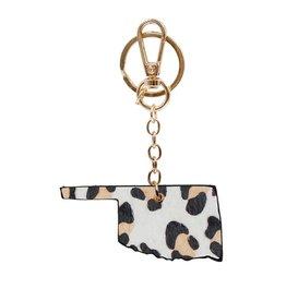 The Ritzy Gypsy WILD STATE Leopard Keychain