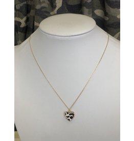 The Ritzy Gypsy JAMIE Leopard Heart Necklace