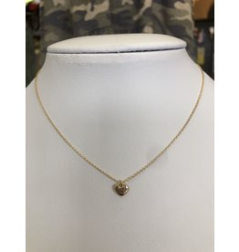 The Ritzy Gypsy MOLLY Gold Heart Necklace