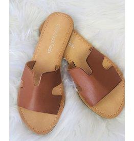 The Ritzy Gypsy TORI Tan Cutout Sandal
