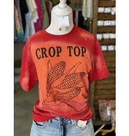 The Ritzy Gypsy CROP TOP Graphic Tee (Red Bleached)