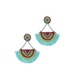 The Ritzy Gypsy BOHO BABE Bead Sead Fan Earring