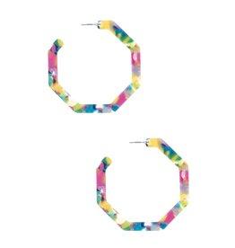The Ritzy Gypsy HOOP & HOLLER Acetate Hoop Earring (pink)