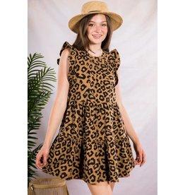 The Ritzy Gypsy DAISY MAE Leopard Tiered Dress